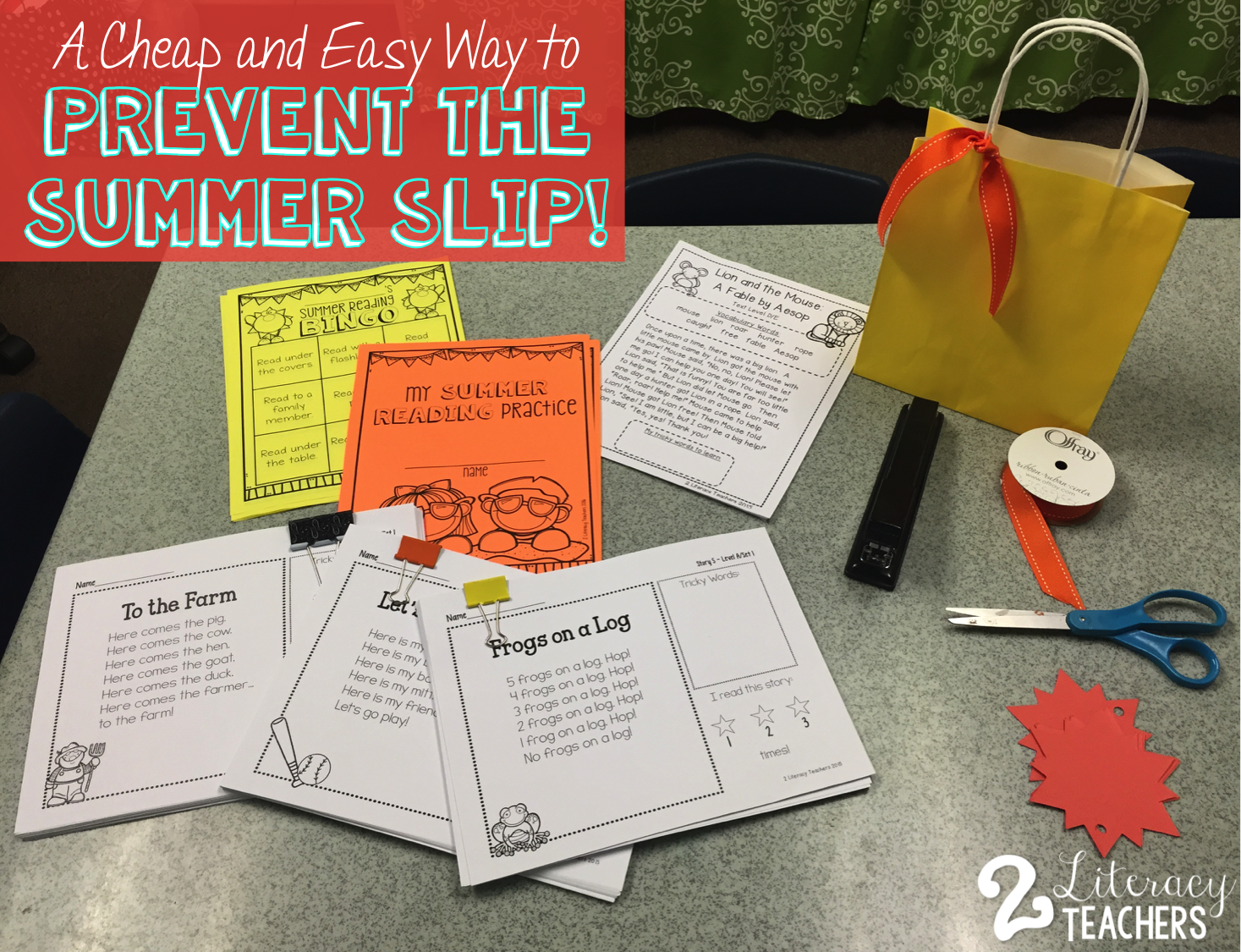Tuesday's Tip – An Easy and Cheap Way to Prevent Summer Slide and a FREEBIE!
