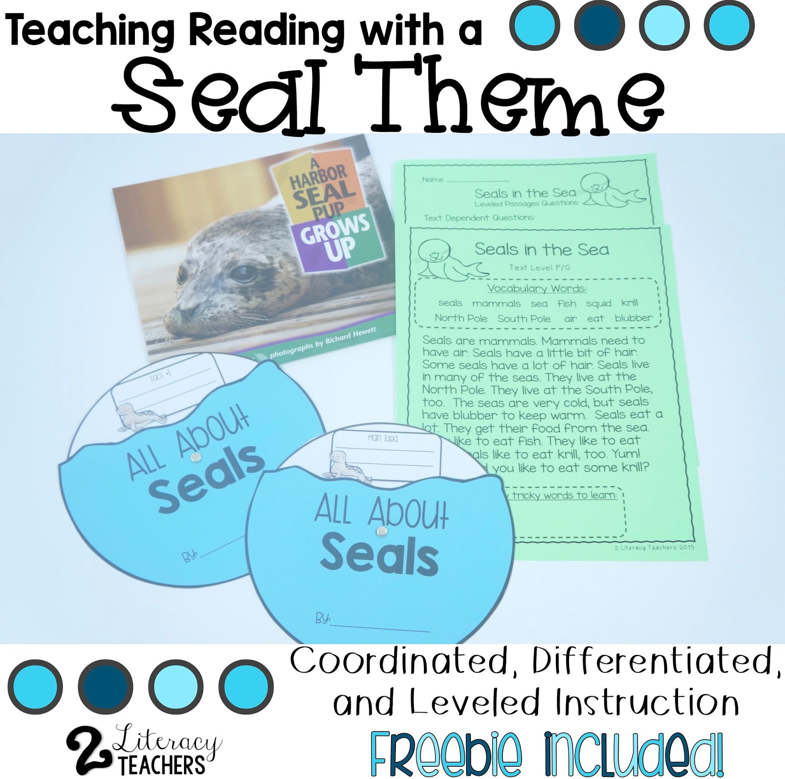 Teaching with a Seal Theme – Differentiated, Leveled Instruction and a Freebie!